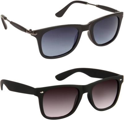 Gansta Wayfarer Sunglasses(Black, Grey)