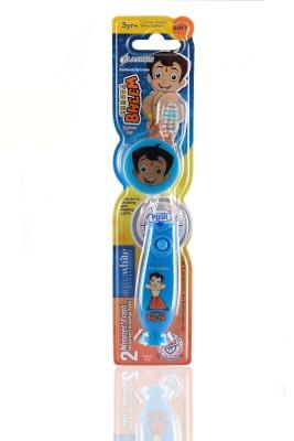 aquawhite Chhota Bheem Kids Timer Flash Light with Hygiene Cap Blue (Waterproof & Inbuilt Battery),Health & Personal Care Ultra Soft Toothbrush
