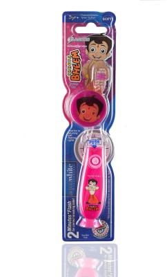 aquawhite Chhota Bheem Kids Timer Flash Light with Hygiene Cap Pink (Waterproof & Inbuilt Battery),Health & Personal Care Ultra Soft Toothbrush