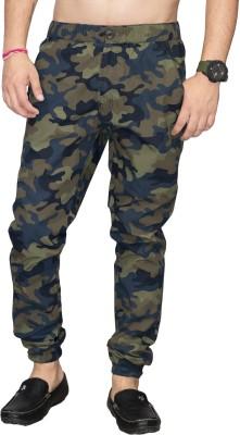 SAPPER Camouflage Men Dark Green Track Pants