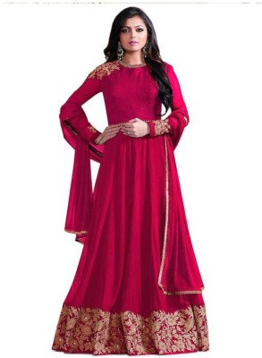 Aryan Fashion Store Anarkali Gown(Red) Flipkart