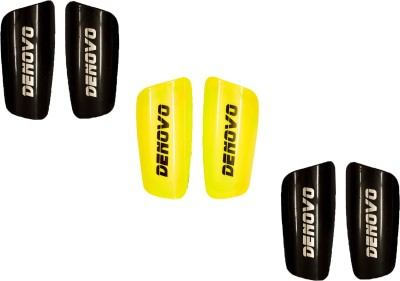 DeNovo Proffesional (Three Pairs) Football Shin Guard(L, Black, Yellow)
