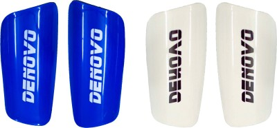 DeNovo Proffesional (Two Pairs) Football Shin Guard(L, Blue, White)