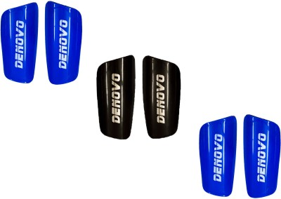 DeNovo Proffesional (Three Pairs) Football Shin Guard(L, Blue, Black)