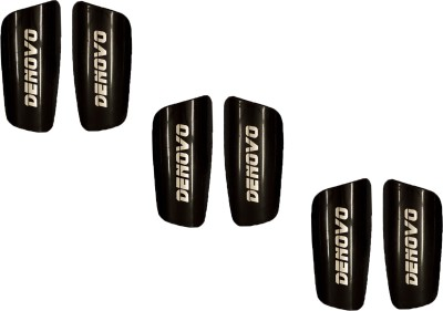 DeNovo Proffesional (Three Pairs) Football Shin Guard(L, Black)