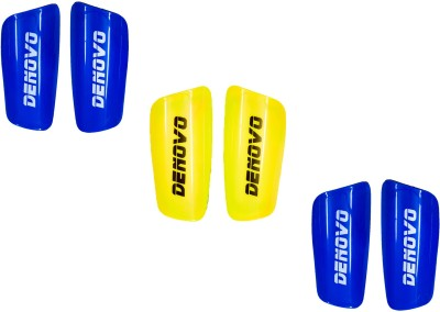 DeNovo Proffesional (Three Pairs) Football Shin Guard(L, Blue, Yellow)