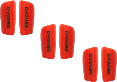 DeNovo Proffesional (Three Pairs) Football Shin Guard(L, Red)