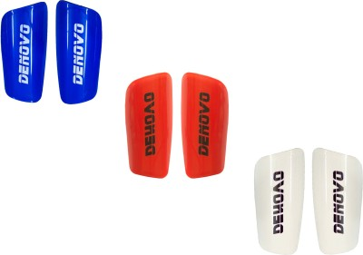 DeNovo Proffesional (Three Pairs) Football Shin Guard(L, Blue, Red, White)