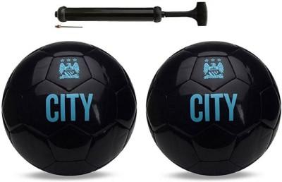 Unik City ViceBlack + City ViceBlack Football Combo With Durable Air Pump Football Kit