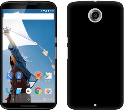 Case Creation Back Cover for Motorola Nexus 6 Black, Dual Protection Case Creation Plain Cases   Covers