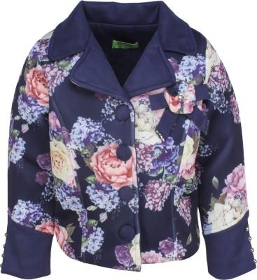 Cutecumber Cotton Blend Floral Print Coat at flipkart