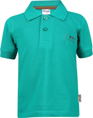 FabTag  - Dongli Boys Embroidered Cotton T Shirt(Light Green, Pack of 1) Flipkart