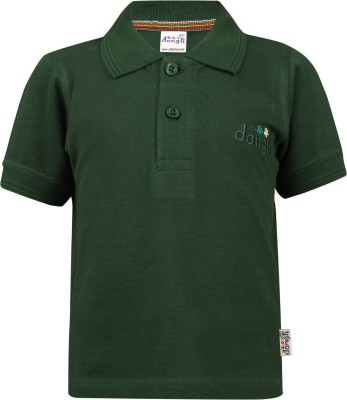 FabTag  - Dongli Boys Embroidered Cotton T Shirt(Dark Green, Pack of 1) Flipkart