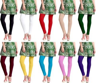 Omikka Churidar  Legging(Black, White, Red, Beige, Green, Maroon, Yellow, Blue, Pink, Purple, Solid)