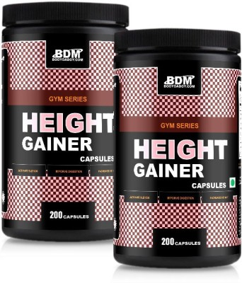 BodyDaddyMake Height Gainer Capsules 200 - [Pack of 2] EAA (Essential Amino Acids)(1.1 pounds, Chocolate)