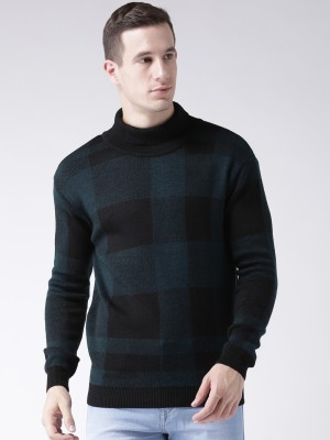 Club York Turtle Neck Checkered Men's Pullover