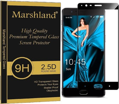 Marshland Tempered Glass Guard for OnePlus 3/3T, 5D Full Glue, Perfect fit, 9H Hardness edge to edge, Anti Scratch Bubble Free(Pack of 1)