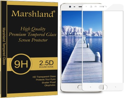 Marshland Tempered Glass Guard for OnePlus 3 white anti scratch(Pack of 1)