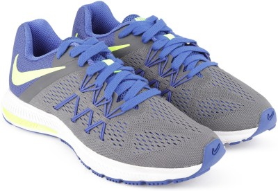 Nike ZOOM WINFLO 3 Running Shoes For Men(Blue, Grey, Green) 1