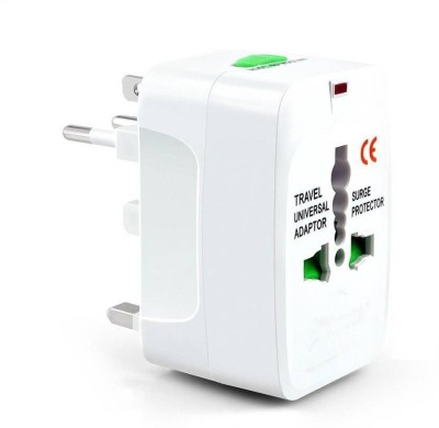 Brandroot All In One Travel Friendly International Charger/Adapter Plug with Power Indicator Light Worldwide Adaptor(Multicolor) at flipkart