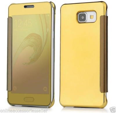 Elyon Design Flip Cover for Samsung Galaxy J5 Prime(Gold, Dual Protection, Plastic)