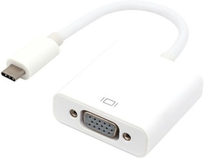 microware USB 3.1 Type C to VGA 8 m VGA Cable Compatible with Computer, Mobile, White microware Cables
