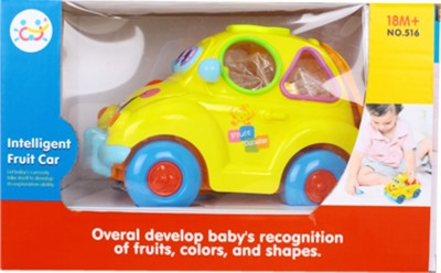 Playwell Intelligent Fruit Car with music and light.(Multicolor)