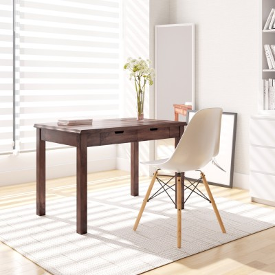 Flipkart Perfect Homes PureWood Mango Study Table(Free Standing, Finish Color - Walnut)