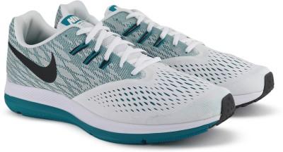 Nike ZOOM WINFLO 4 Running Shoes For Men(White) 1