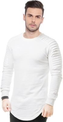 JUST DRESS BETTER Solid Men Round Neck White T-Shirt
