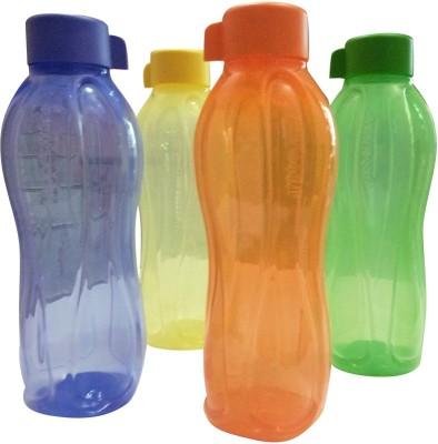 Tupperware Aqua Safe 1000 ml Water Bottles 1000 ml Bottle(Pack of 4, Green, Blue, Pink, Yellow)