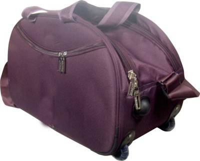 Aqeeq Lite Travel 2Tone Purple Duffle Bag Duffel With Wheels  Strolley  Purple Aqeeq Duffel Bags