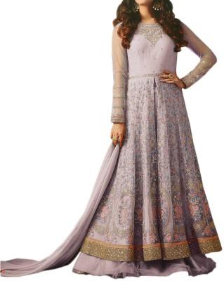 Ap Enterprise Net Embroidered Semi-stitched Salwar Suit Dupatta Material