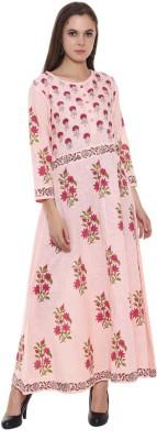 ED Casual Printed, Floral Print Women Kurti(Pink)