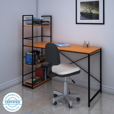 Valtos Engineered Wood Study Table(Free Standing, Finish Color - Wenge)