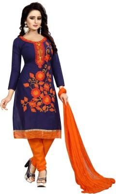 Vetrokart Cotton Embroidered Salwar Suit Dupatta Material(Un-stitched)