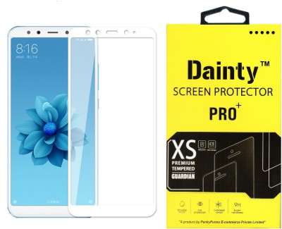 Dainty Edge To Edge Tempered Glass for Mi A2(Pack of 1)