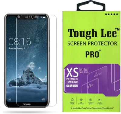 Tough Lee Tempered Glass Guard for Nokia 5.1 Plus(Pack of 1)