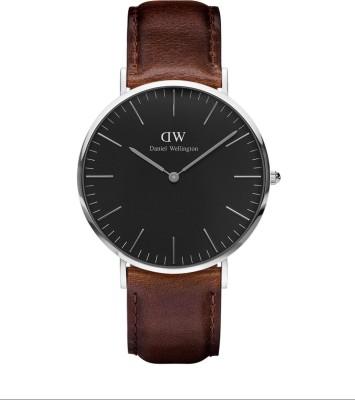 Daniel Wellington DW00100131 Classic Black Bristol Analog Watch  – For Men
