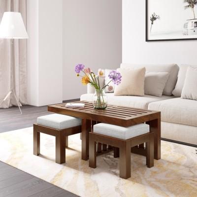 Flipkart Perfect Homes PureWood Sheesham Coffee Table(Finish Color - Grey Walnut)