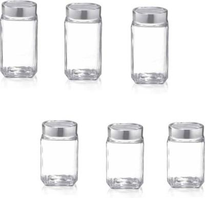 cello Qube Jar 2 Piece Spice Set Glass cello Condiment Sets