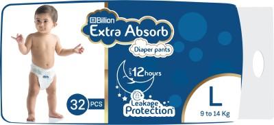 Billion Extra Absorb Diaper Pants   L 32 Pieces  Billion Baby Diapers