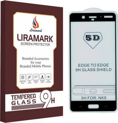 LIRAMARK Edge To Edge Tempered Glass for Nokia 8(Pack of 1)