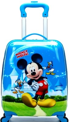 GOCART 60Â Rotating Wheels,Mickey Cartoon Printed Pattern Non Breakable   Extra Light Weight Cabin Luggage   18 inch GOCART Suitcases