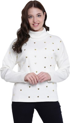 Texco Full Sleeve Embellished Women Sweatshirt at flipkart