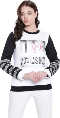 Texco Full Sleeve Printed Women Sweatshirt at flipkart