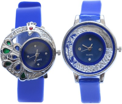 NEUTRON Modish Diwali Peacock And Flower Blue Color Combo Watch (G77-G87) For Girls And Women Watch  - For Girls
