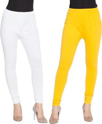 BuyNewTrend Churidar  Legging(White, Yellow, Solid)