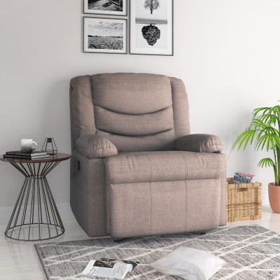 @home by Nilkamal Matt Fabric Manual Recliners(Finish Color - Chocolate)