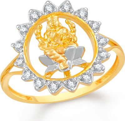 Divastri Brass, Alloy Cubic Zirconia Gold-plated Plated Ring